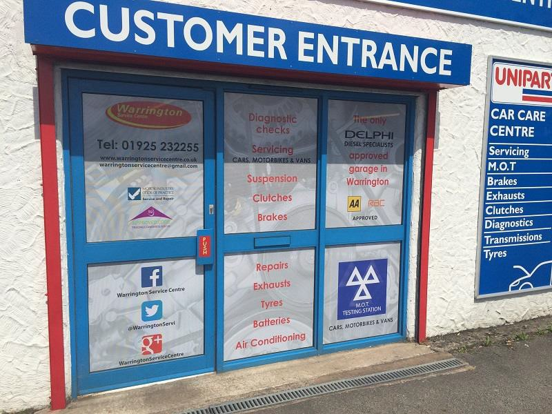 Warrington Service Centre, perforated advertising film